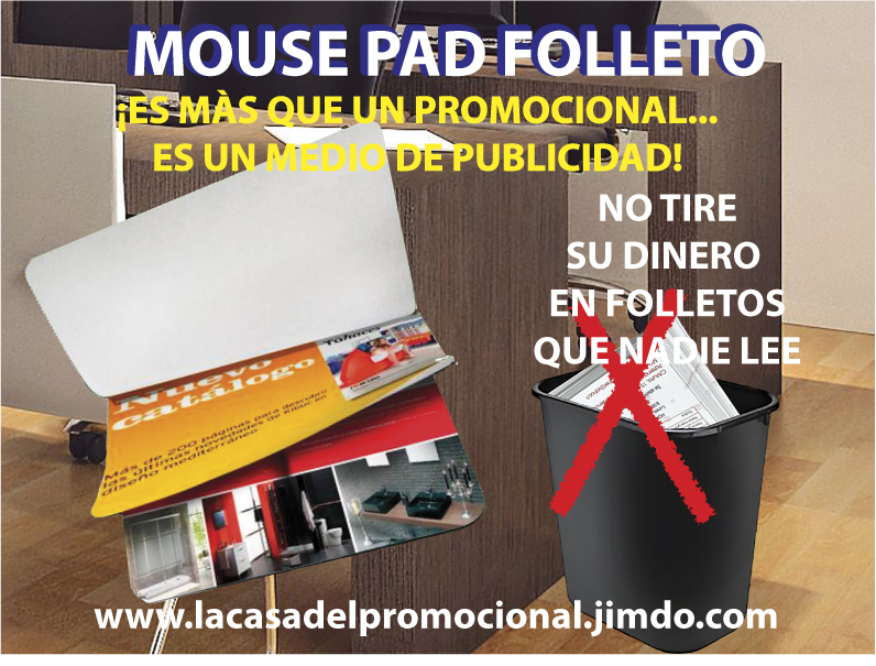 MOUSE PAD CALENDARIOS CON TUS PRODUCTOS A TODO COLOR